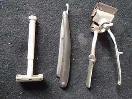 Elementos de peluquería antiguos