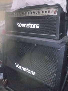 cabezal amplificador Wenstone Ge1200h + caja alta 2x12 segunda mano  Las Malvinas, Buenos Aires