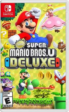New Super Mario Bros U Deluxe Switch Nuevo y Sellado