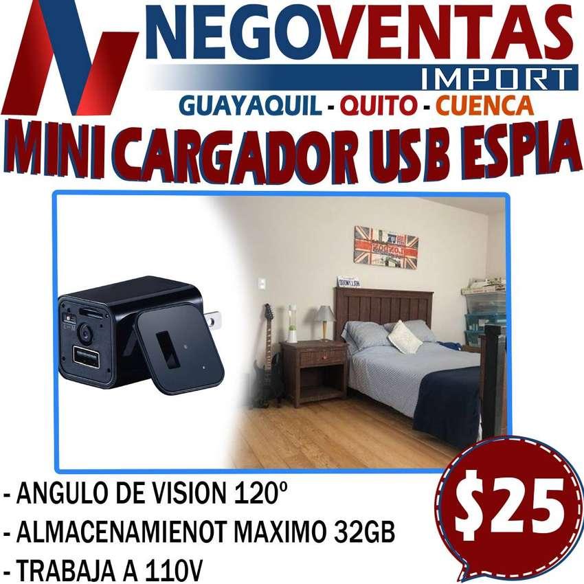 MINI CARGADOR USB ESPIA EN DESCUENTO EXCLUSIVO DE NEGOVENTAS 0