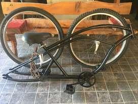 Bici Playera Chopper r26 apto motor