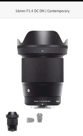 Sigma16mm f/1.4 DC DN Contemporary para Sony E nuevo en caja !