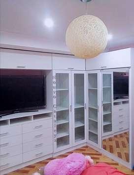 Roperos, closet, comoda, muebles en melamina