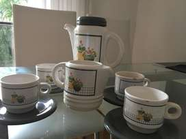 juego de cafe de  ceramica