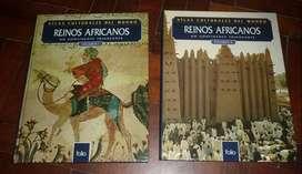 REINOS AFRICANOS VOL 1 Y 2 . ATLAS CULTURALES DEL MUNDO . LIBRO FOLIO 1996 IMPECABLES