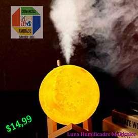 Humificador Lámpara Luna Multicolor