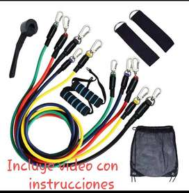 Kit bandas Elasticas Tubulares 11 set