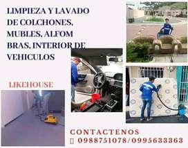 Trabajos de limpieza de muebles a domicilio 100% garantizado