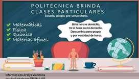 CLASES DE MATEMATICAS FISICA Y QUIMICA