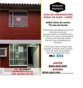 Casa  en urbanización Rosal de suba aures