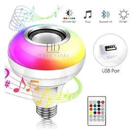 Bombillo Led Bluetooth Parlante Music Blanco Y Multicolor