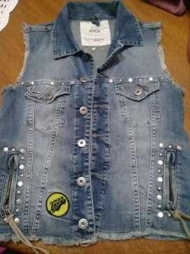 Chaleco de jeans. Rapsodia