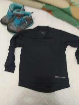 Bolsegos y camiseta térmica montagne