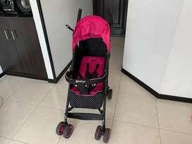 Coche reclinable marca ebaby rosado