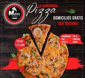 Pizzero y preparador de comida rapida