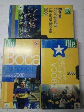 Boca Juniors Vhs Coleccion Boca Campeon Lote 3 *buen Estado*