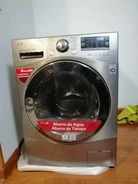 Lavadora secadora lg truesteam