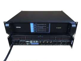 Amplificador 4 Canales, Audio Sonido Poder Power 10,000W Modelo Lab Gruppen 4x2500W Stereo Power 4 Ohms