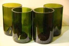 Vasos de botella de vidrio