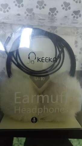 Auriculares Keeka con Peluche Muy Buen Sonido y en Buenas Condiciones
