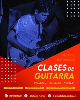 Clases de Guitarra y Teclados - ONLINE - #SienteMúsica