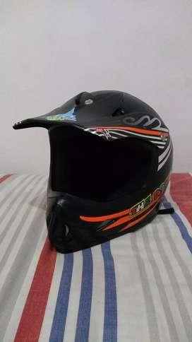 Casco para Bicicross + Gafas de Protección