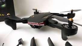 Drone Tiburon Con 1 o 2 Baterias Vuelo 20 minutos VISUO XS809S BATTLES SHARKS