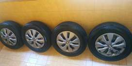 Vendo ruedas completas (cubiertas, llantas y tazas)