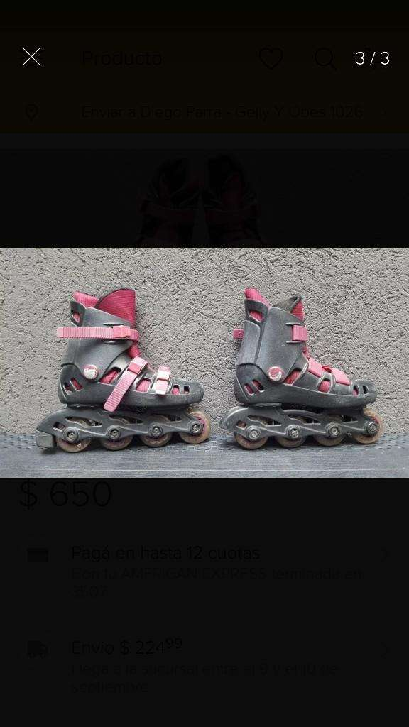 Patines Rollers Talle 33 0