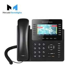TELEFONO IP LCD 12 LINEAS PUERTO GIGABIT POE - GRANDSTREAM