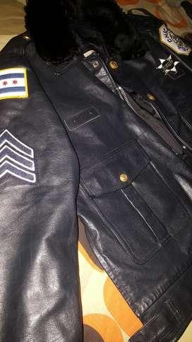 Chaqueta de Cuero Policia Chicago Ny
