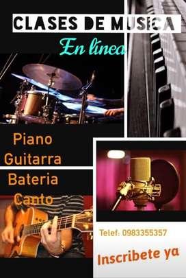 Clases de Piano Guitarra Bateria y Canto