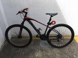 Bicicleta fusión rin 29 de aluminio suspensión bloqueo