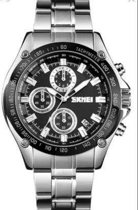 Relojes hombre Cronografos funcionales, Fecha, acero inoxidable.