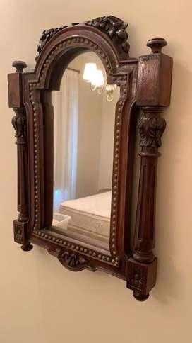 espejo para rostro, antiguo, mide 50 cm x 37 cm