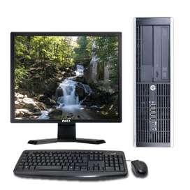 equipos corporativos combos pc + pantalla + teclado + mouse