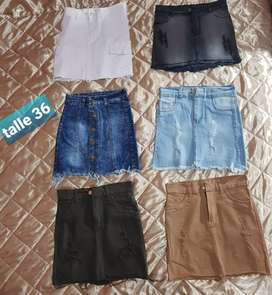 Polleras de jeans disponibles