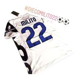 Camiseta inter de milan 22 milito
