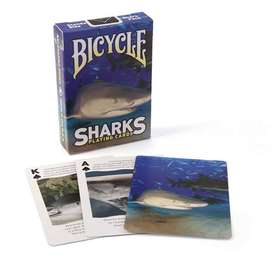Cartas, Baraja Original Bicycle, Tiburones Sharks Poker, Banimported, Importador para Colombia