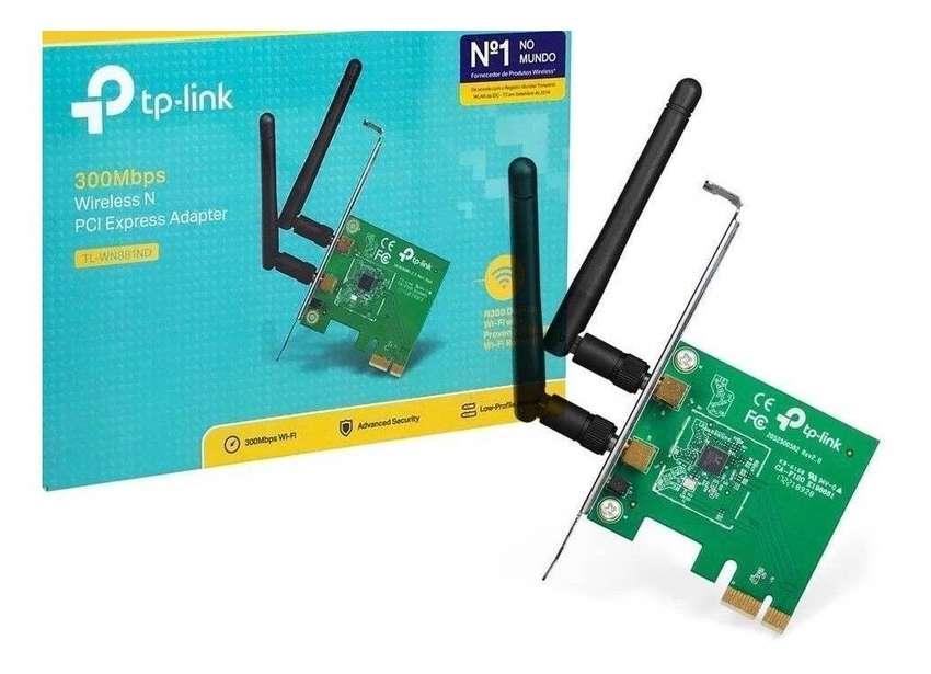 PLACA WIFI PCie INTERNA 300Mb PLACA DE RED WI FI TP LINK TL WN881ND ADAPTADOR PCIe WIFI ENVÍO GRATIS 0