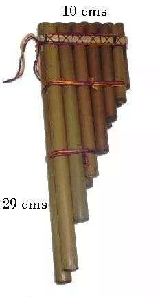 Zampoña Siku Estudió Música Andina 13 Cañas antara flauta de pan