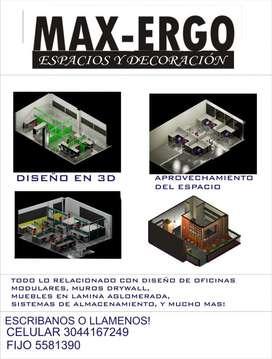 OFICINAS MODULARES, DISEÑOS 3D Y MAS
