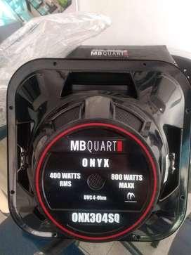 AUDIO CARRO PARLANTE BAJO NUEVO  MARCA MBQUART ONX304SQ  doble bobina 4 ohms