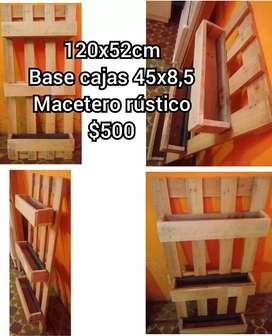Vendo práctico porta macetas rústico$500 cada uno