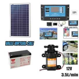 Bomba Agua Solar 12v 3.5l/min Controlador Solar 10a Panel