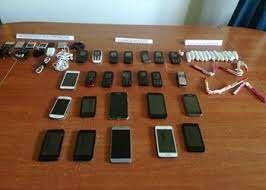 Cargadores variados de celulares