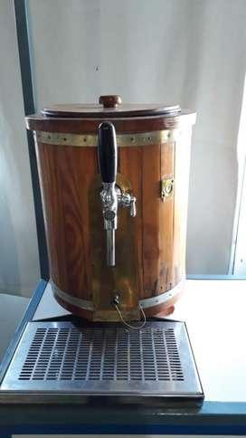 Chopera artesanal, con tubo de CO2 9 litros de aluminio y accesorios