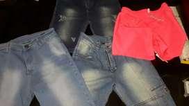 Lote de bermudas para niños + 1 jeans