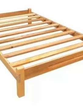 Cama tarima de madera plaza y media (1.5)