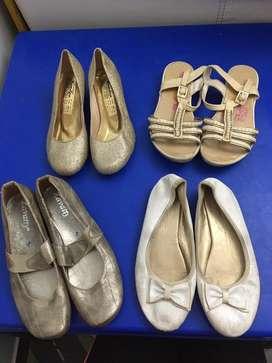 Zapatos y sandalias de niña talla 33-34